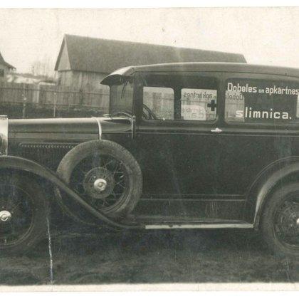 Dobeles un apkārtnes slimnīcas auto. 20. gs. I puse.